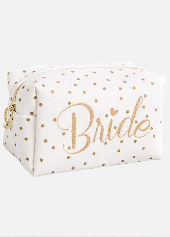 Bride Polka Dot Make-Up Bag