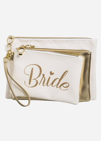 3-Piece Bride Pouch Set