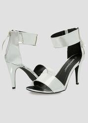 Mirror Metallic Dress Sandal - Wide Width