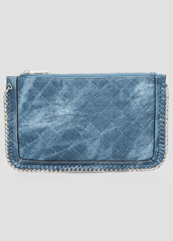 Quilted Denim Clutch