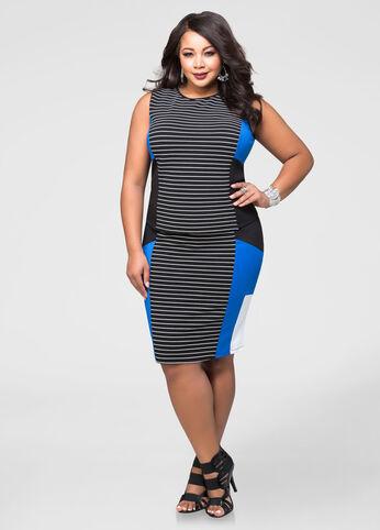 Center Stripe Tube Skirt