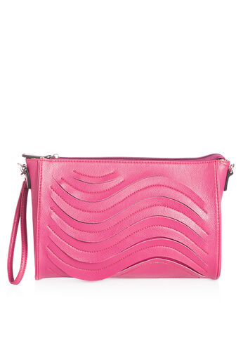 Wave Stitch Clutch Bag