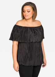 Plissé Pleat Marilyn Top