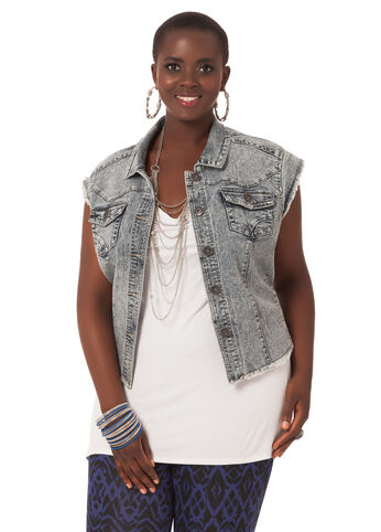 Denim Princess Seam Vest