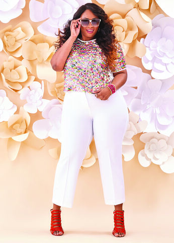 Plus Size Outfits - Sassy in Sequin