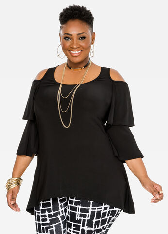 Double Ruffle Hi-Lo Tunic