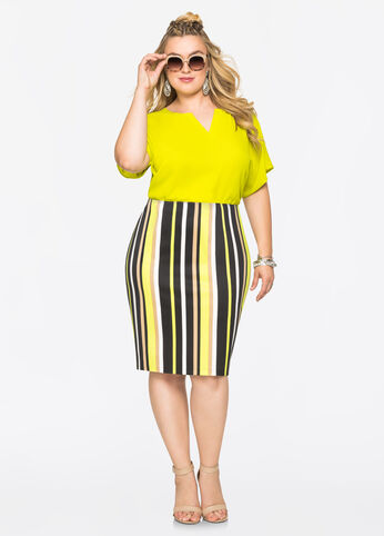 Plus Size Outfits - Struttin' in Stripes