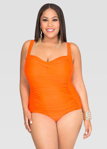 Power Mesh One Piece Swimsuit