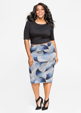 Stained Glass Pencil Skirt