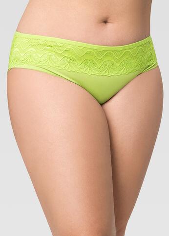 Microfiber Lace Panty