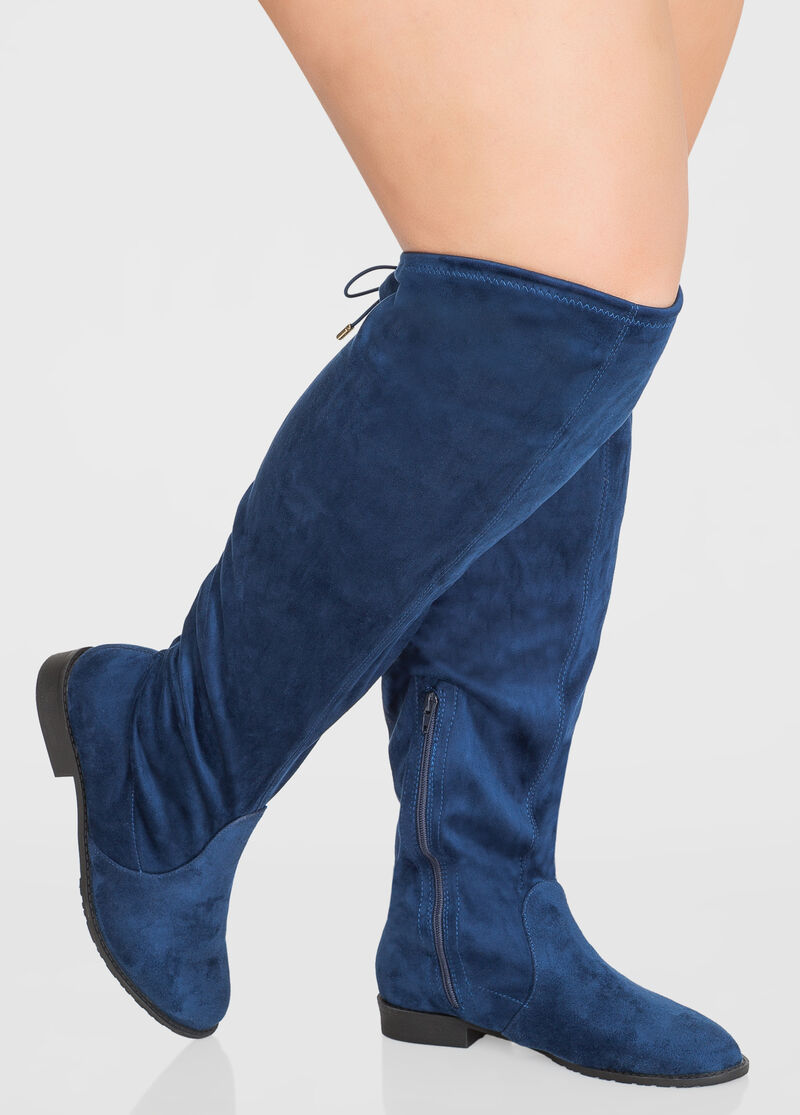 Plus Size Flat Over The Knee Boot - Wide Calf Wide Width 068-ASH-AN1