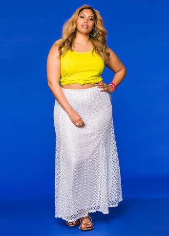 Crochet Lace Maxi Skirt
