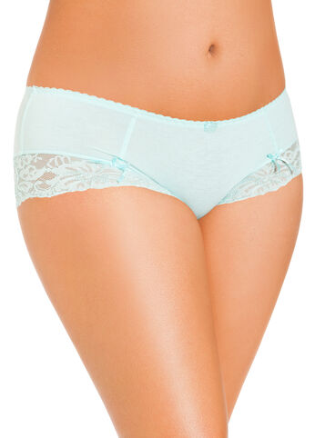 Big Swell Lace Trim Boy Leg Panties