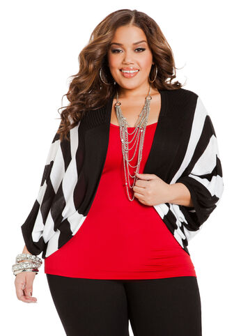Striped Dolman Shrug