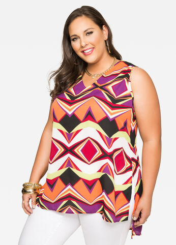 Chevron Hi-Lo Tunic