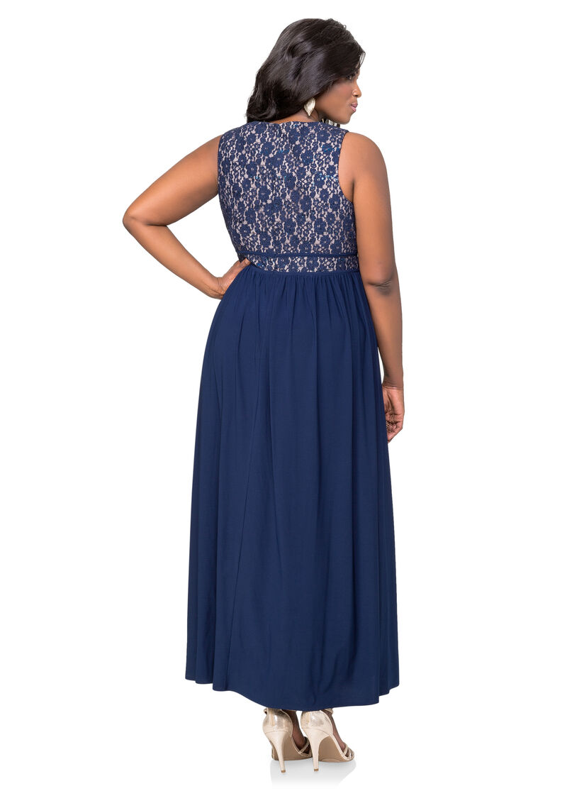 Special Occasion Makeup Artist: Lace Bodice Special Occasion Dress-Plus Size Dresses