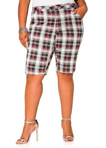 Plaid Twill Bermuda Shorts