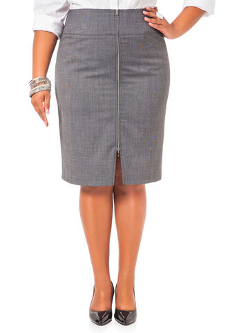 Back Zip Pencil Skirt