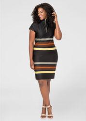 Stripe Border Slim Skirt