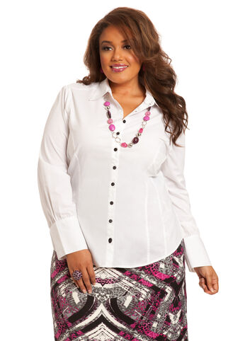 Signature Puff Sleeve Button Down