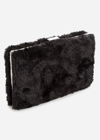 Faux Fur Box Clutch