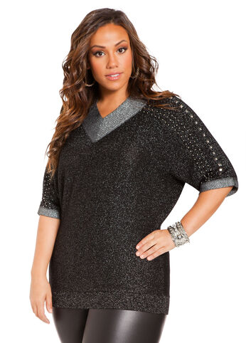 Lurex Embellished Top