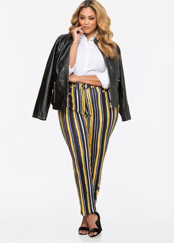 Bold Stripe Ponti Skinny Pant