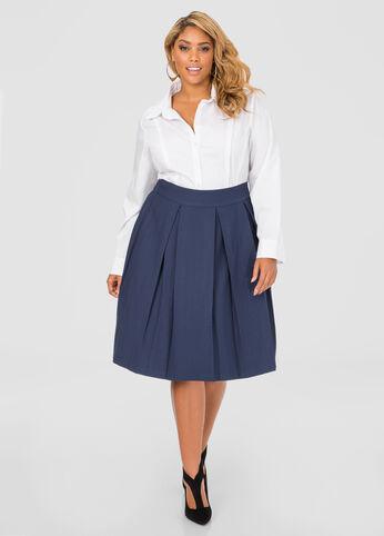 Jacquard Box Pleat Skirt