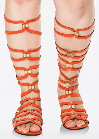Colorblock Gladiator Sandal - Wide Width