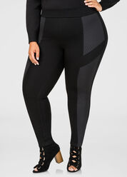 Quilted Trim Ponte Pant