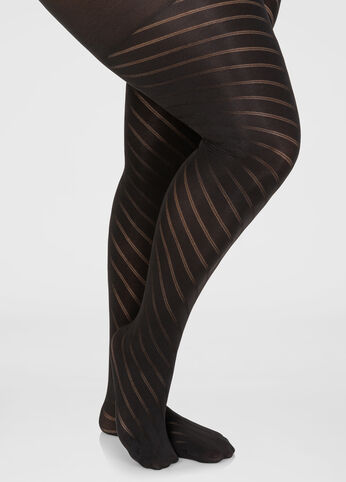Spiral Shadow Stripe Tights