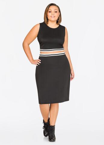 Athletic Stripe Skirt Black - Clearance
