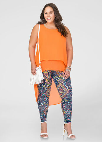 Printed Kaleidoscope Legging