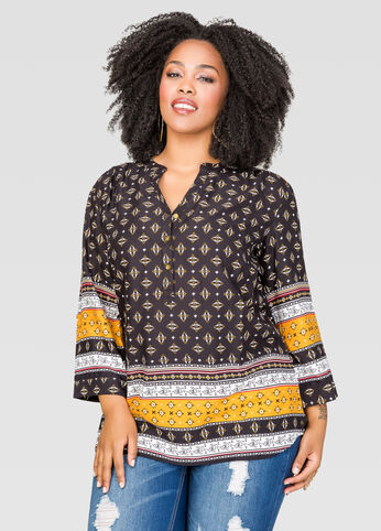 Mixed Boho Print Tunic