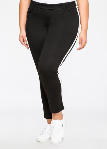 Racing Stripe Ponte Ankle Pant
