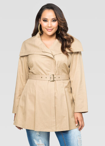 Belted Wrap Trench Coat