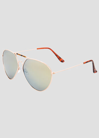 Tortoise Trim Aviator Sunglasses