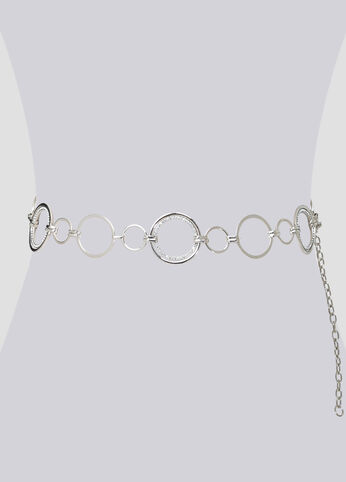 Metal Circles Chain Link Belt