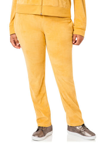 Velour Triple Stitch Waist Pants