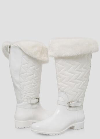Fur Top Snow Boot - Wide Calf, Wide Width