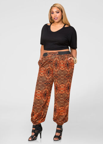 Textured Tribal Jogger Pant