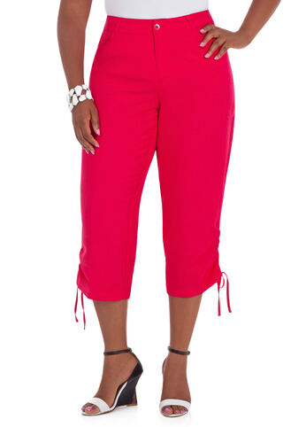 Drawstring Cuff Cropped Pants