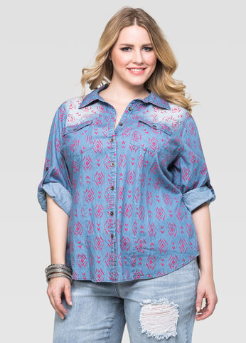 Tribal Denim Shirt