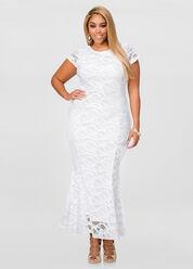 Crochet Mermaid Maxi Dress
