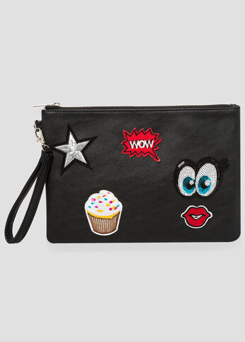 Patches Wristlet Clutch at Ashley Stewart