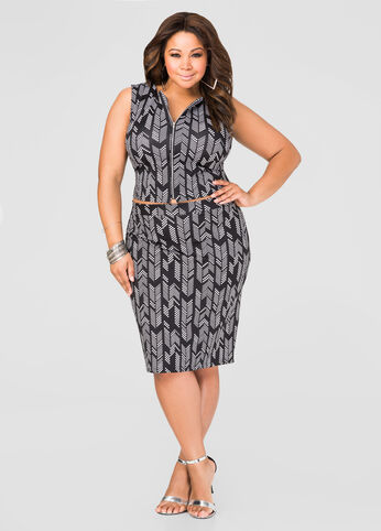 dot and arrow skirt set - plus size