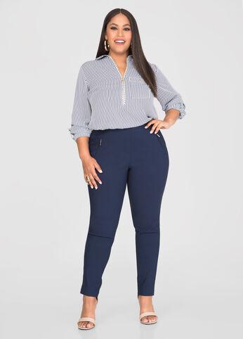 Ultra Stretch Zip Skinny Pant