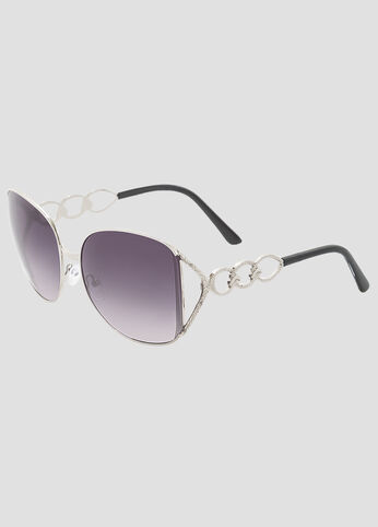 Large Square Chain Link Sunglasses