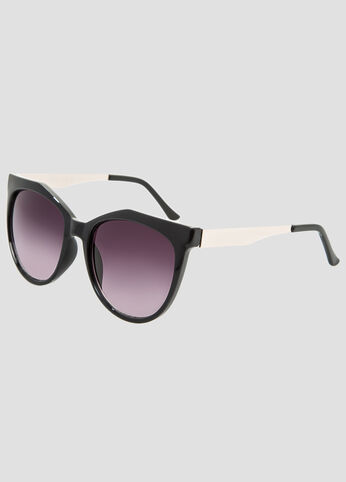Metal Temple Cateye Sunglasses