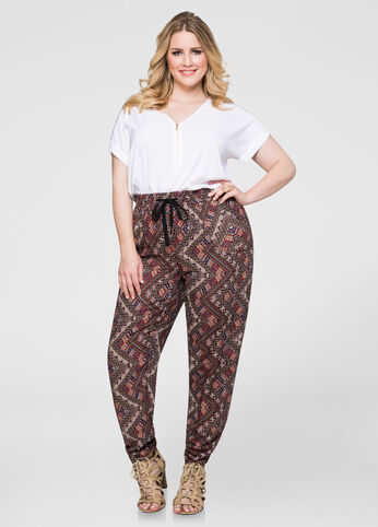 Tribal Ruched Leg Pant